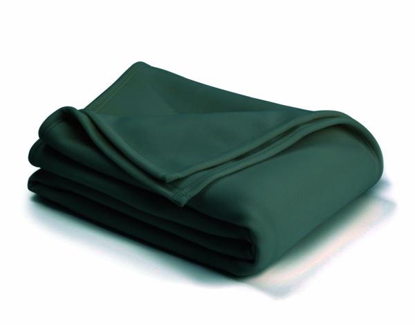 vellux classic hunter green blanket