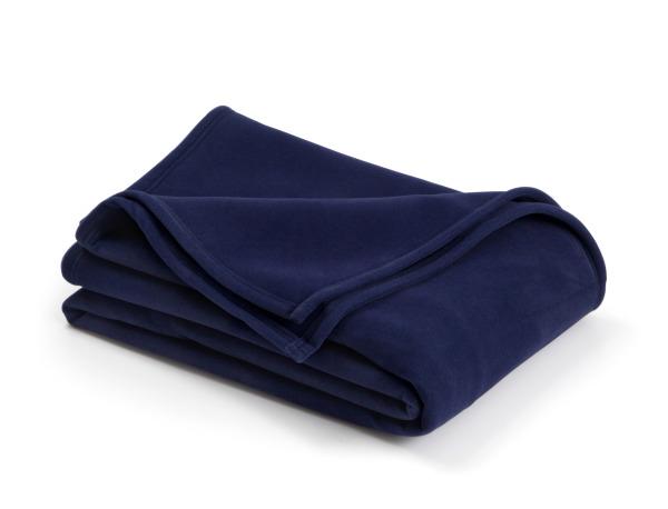 vellux classic navy blanket