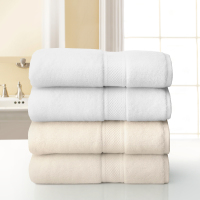 Grand Patrician White and Ecru Towel Stack