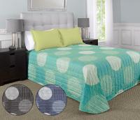 MartexRx Circles and Stripes Aqua Bed