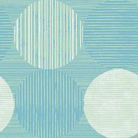 Aqua Circles and Stripes