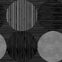 Black-Gray Circles and Stripes