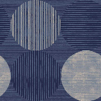 Sapphire-Navy Circles and Stripes