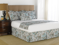martex prints blue/chocolate jacobean bedding