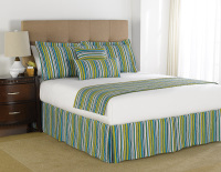 martex prints lime variegated stripe bedding