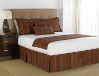 Martex Prints Variegated Stripe Wine Spice Bedding
