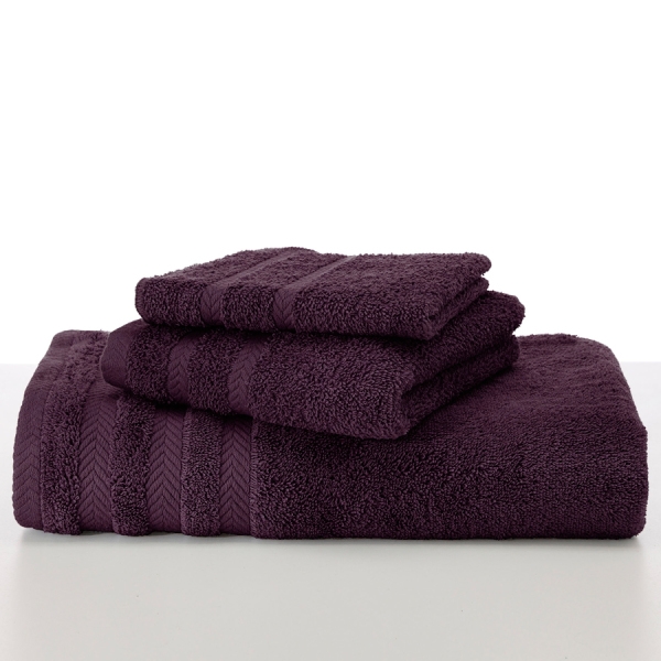martex egyptian black plum towels