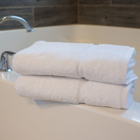 Martex Simplicity White Hand Towel Stack