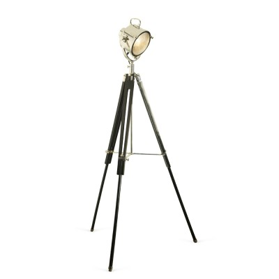 Nickel Spotlight, Black Tripod  £350 - In showroom