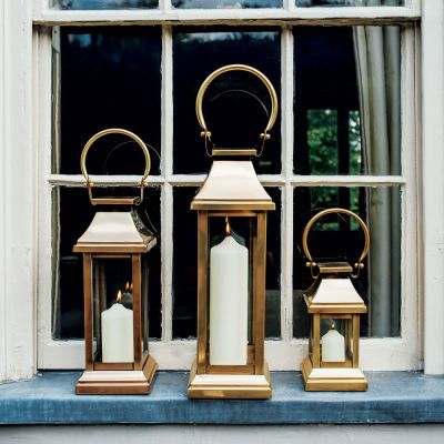 Antique Brass Station Lanterns