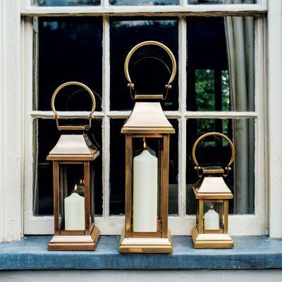 Antique Brass Station Lanterns