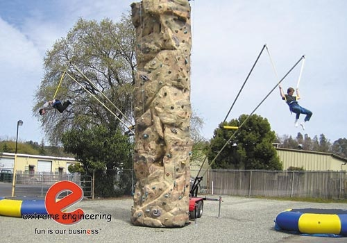 ROCK WALL AND BUNGEE JUMP