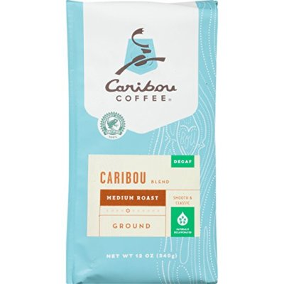 Caribou Coffee Blend Decaf Ground, 12-Ounce Bag