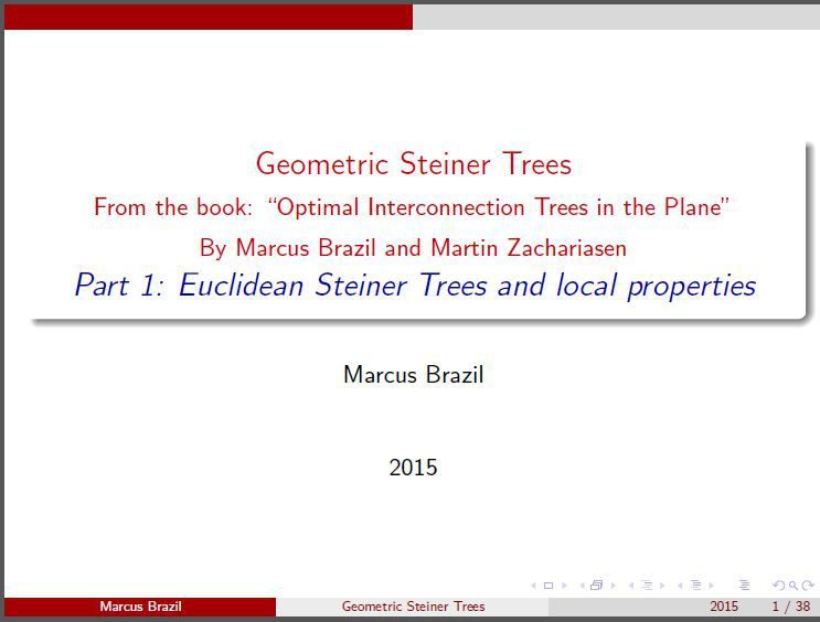 Part 1: Euclidean Steiner Trees and local properties