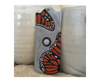 doorbell, door bell, peacock, feather, doorbell plate, buzzer,monarch,  butterfly, chicken, moth, stoneware, stoneleaf, stoneleaftile, tile, mosaics