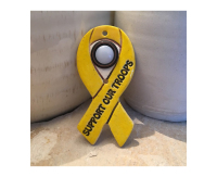 doorbell, door bell, doorbell plate, buzzer, ribbon yellow ribbon, awareness ribbon,