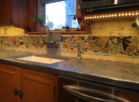 backsplash, back splash, tile, mosaic, hearth, pool, interior design, doorbells, design, kitchen, bath, floor, art tile, mosaic tile, leaf tile, animal tile, stoneleaf tile, stoneleaf, stoneware, ceramic