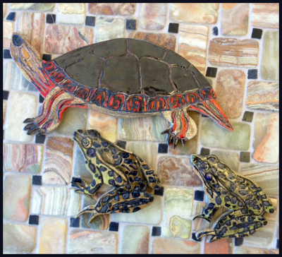 Painted Turtle & Leopard Frog
