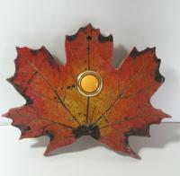 leaf, leaf doorbell, maple, doorbell plate, tile doorbell, bell stoneleaf, stoneleaftile
