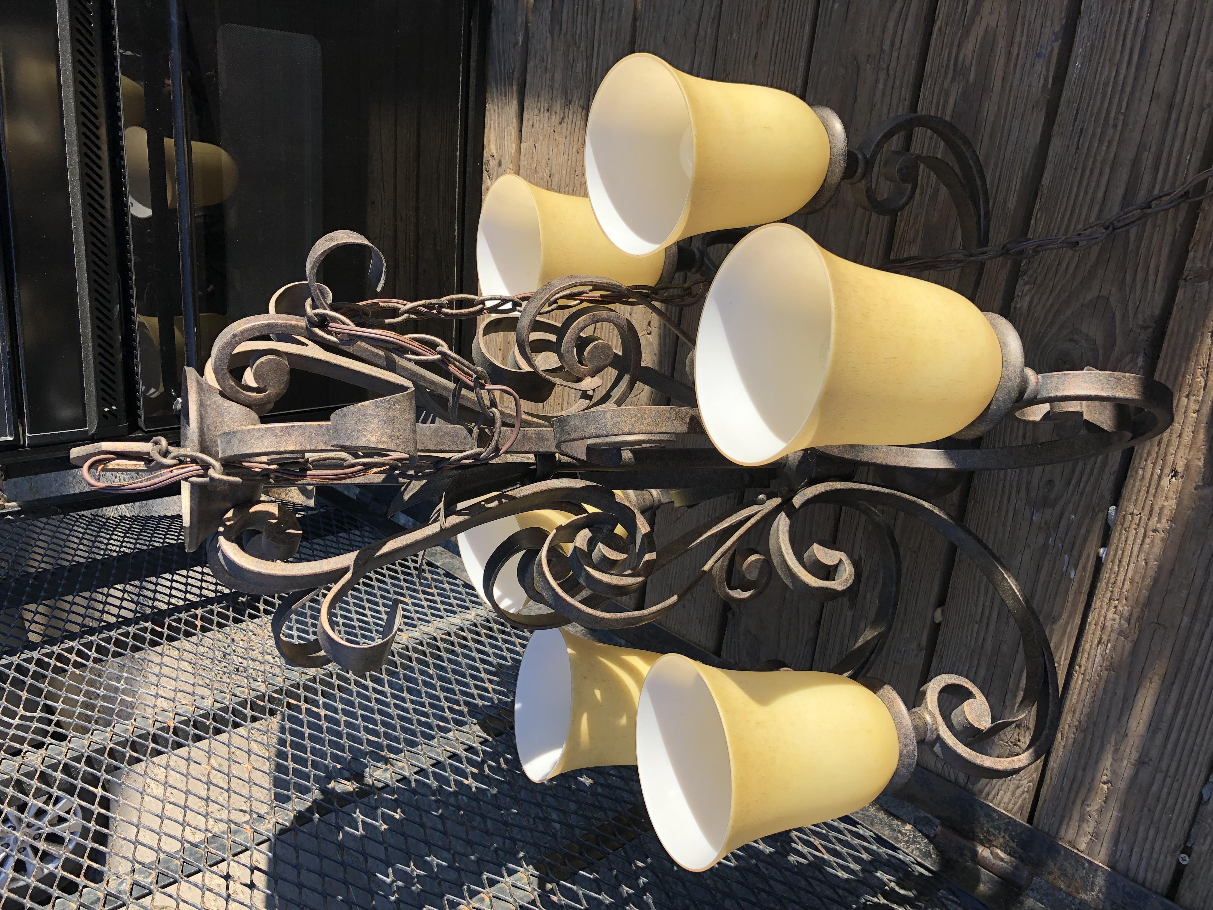 Beautiful rod iron chandlier