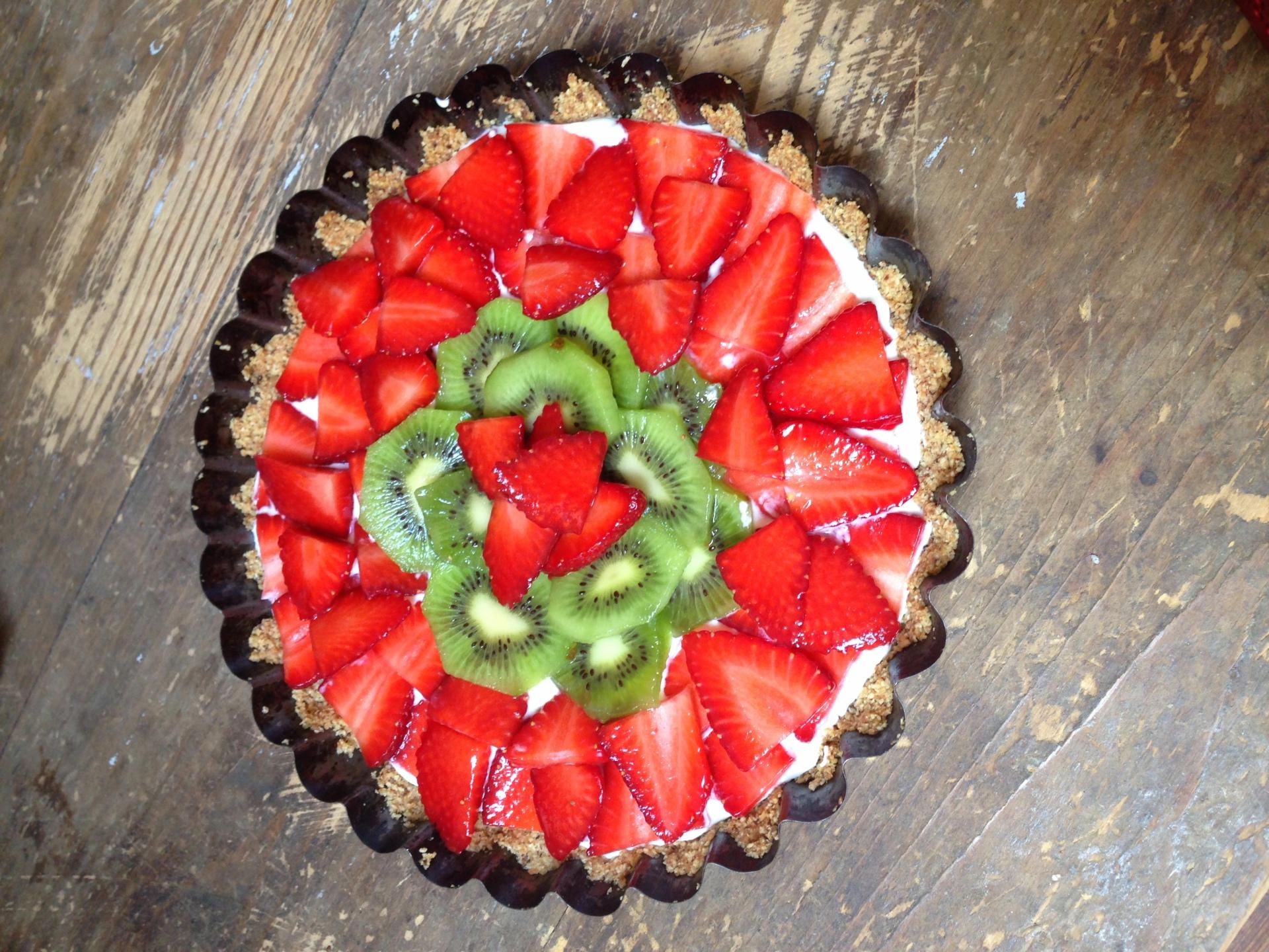 Spring Strawberry Kiwi Tart