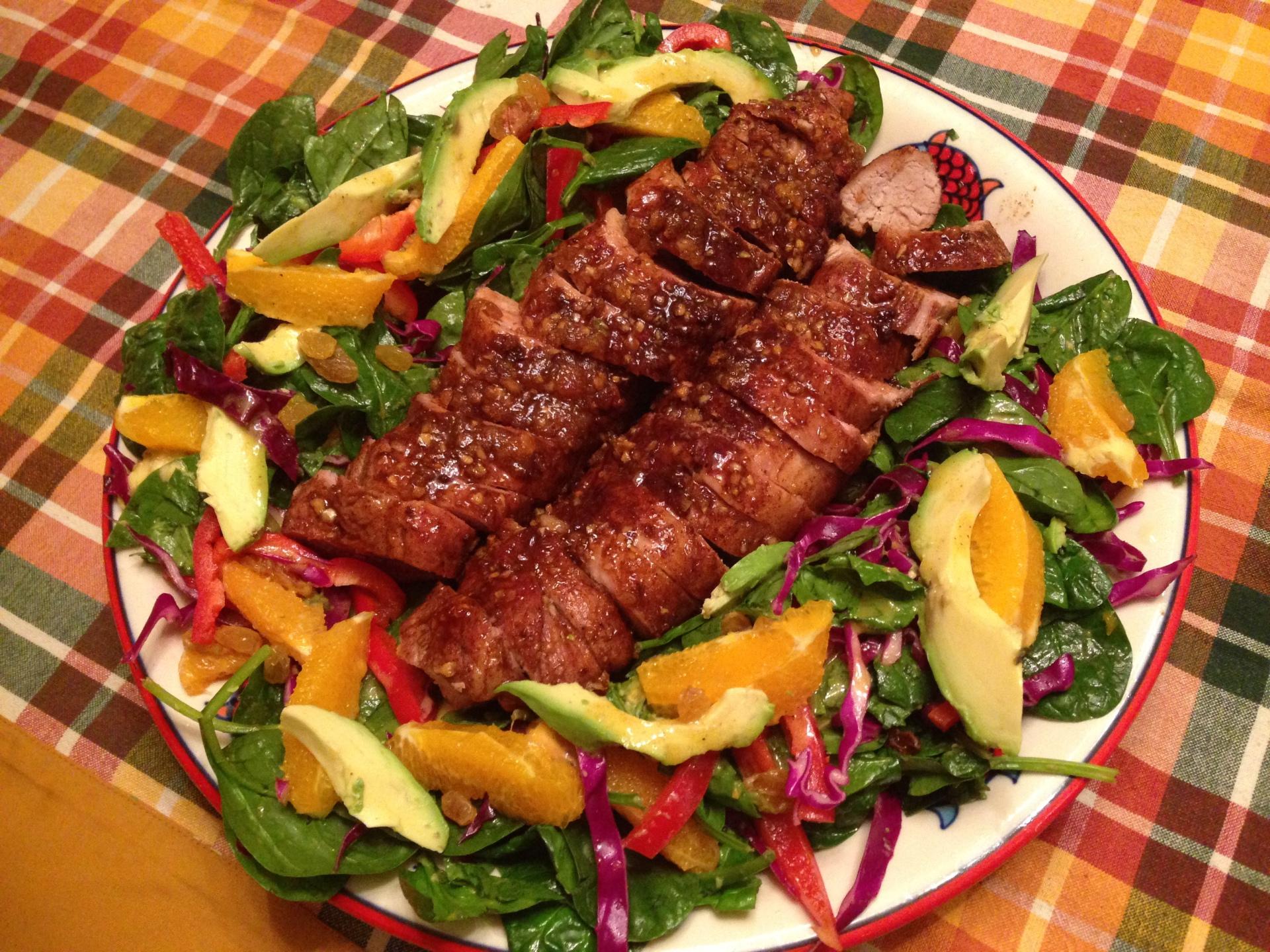 My Birthday Pork Tenderloin Salad