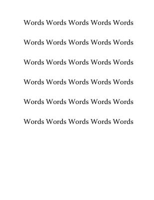 Words Words Words Words Words