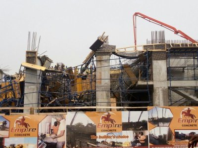 Five injured after storey building under construction collapsed in Accra