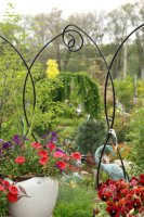 Garden Decor incorporated in our nursery yard