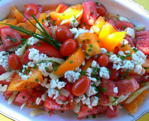 Tomato and goat cheese salad recipe