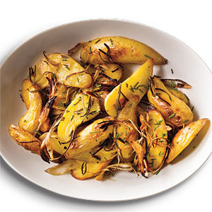 Roasted Rosemary Fingerling Potatoes    photo: Charles Masters