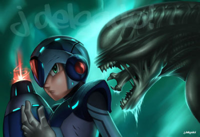 Mega Man VS Alien