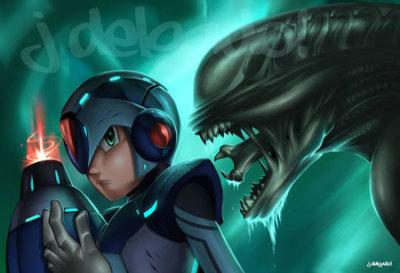 Mega Man VS Alien