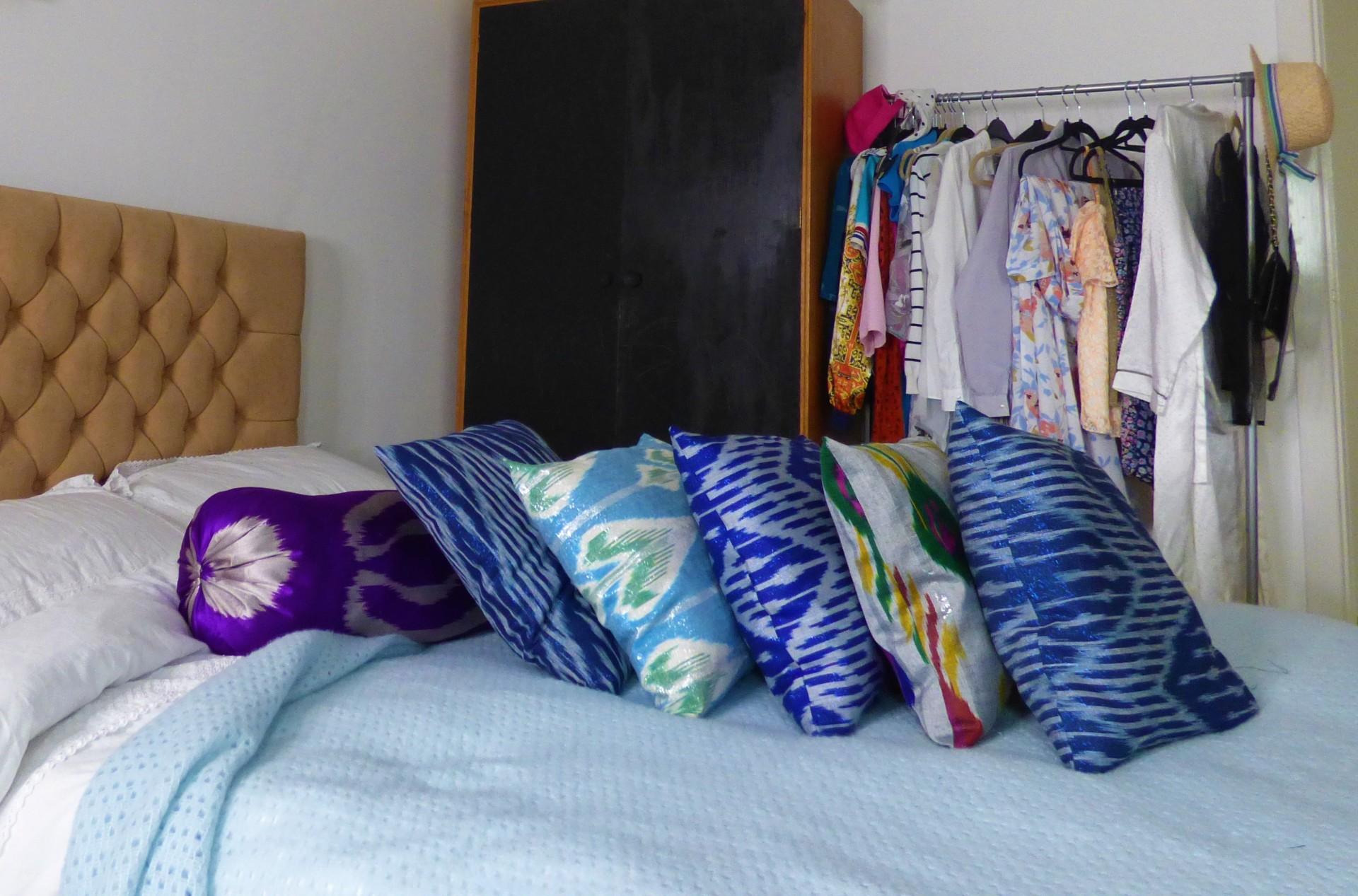 DIY IKAT cushions
