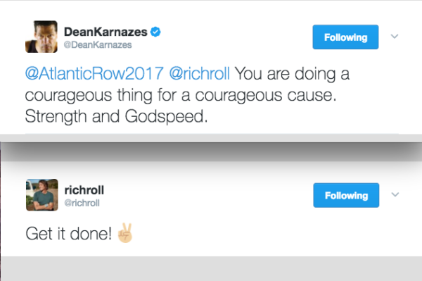 Support from two legends Dean Karnazes and Rich Roll