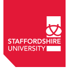 Welcome onboard Staffordshire University