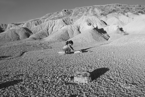 """In the Middle of the Badlands, She Finds a Typewriter"""