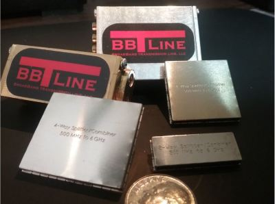 BBTLine's products 2 way 4 way splitters combiners, SMT surface mount and SMP connectors, call 425-273-3712 or email bbtline@gmail.com