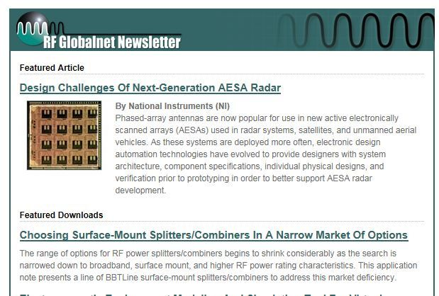 BBTLine surface mount SMT Product Note posted on RF Globalnet site