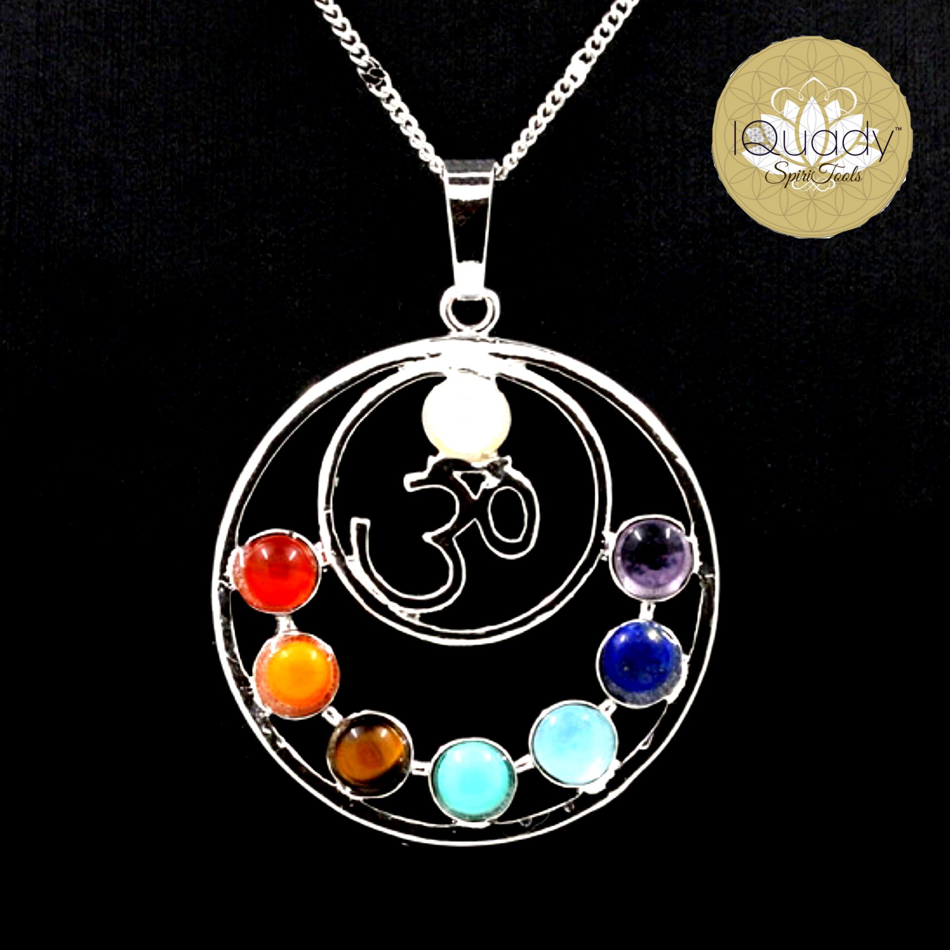 7 Chakra Stone Namaste Energetic Healing Amulet