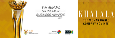 KHALALA Nominated for Top Woman Owned Company Award Category