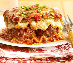 Meat Sauce Lasagna & Meat Balls