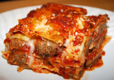 Meat Sauce Lasagna with Mushroom & Meat Balls