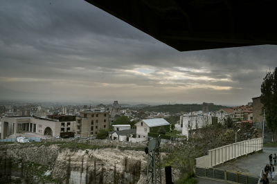 Yerevan, Armenia. View of the city. In the background you can see the Memorial.