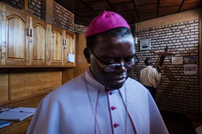 Rwanda, Kibeho. The Bishop of Gikongoro.