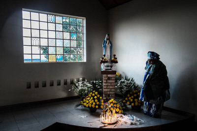 Rwanda, Kibeho. The room of the first apparition is now a little Chapel.