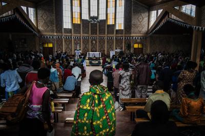 "Rwanda, Kibeho. The Marian sanctuary named ""Shrine of Our Lady of Sorrows""."