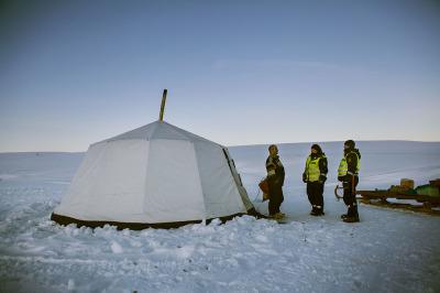 Norway, Finnmark. The tent of a reindeer breeder.