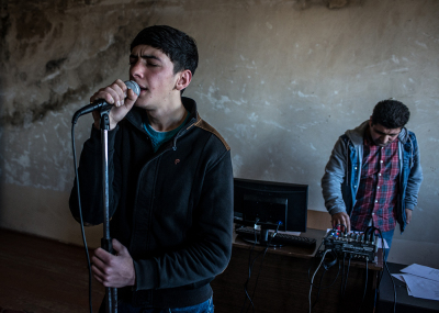 Shushi, NKR. Liberal Arts College Arsen Khachatryan. Yuri Adamyan, 18 years old. He dreams to become a singer. He daily take vocal lessons from his teacher Sasoun Poghosyan, 36years old.