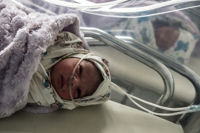 Stepanakert, NKR.  Two new born in the maternity hospital.